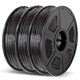 // 3.3lbs 0.02 mm,Filament 3D Printing Materials,Compatible with most 3D Printer//3D pen,Enotepad Black+White+Black PLA Plus PLA 1.75 mm,0.5KG*3 Spools 3D Printer Filament,PLA ,Dimensional Accuracy