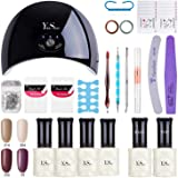 Vernis Gel Semi Permanent - Y&S UV LED Vernis à Ongles Gel Soak Off Manucure Cadeau Kit, 6 Couleurs X 8ml Chaque Flacon