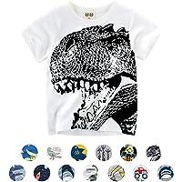 Unisexo Bebé Niños Dibujos Animados Animal Modelo Camiseta Dinosaurio/Tiburón/Coche Verano Corto Manga Tops