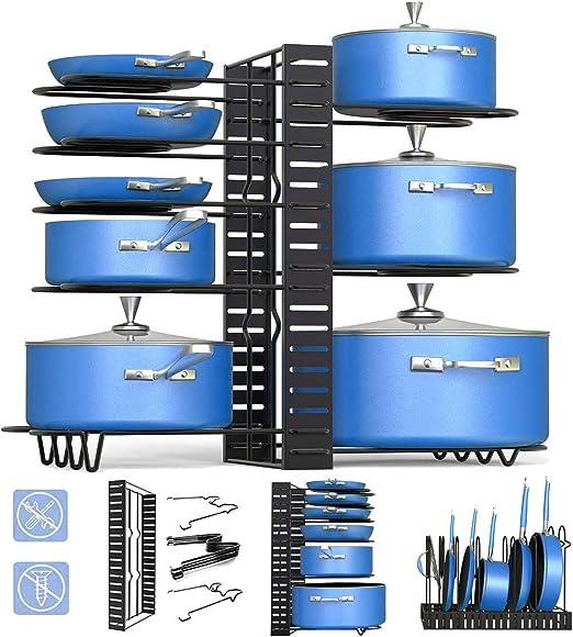 Organizador de ollas, 3 métodos verticales y horizontales para ...