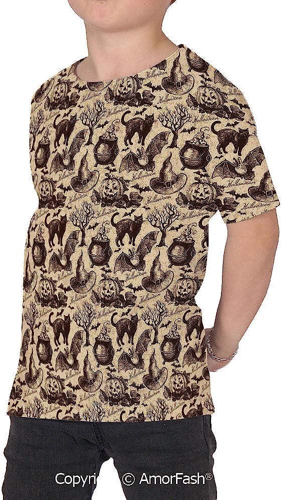 Vintage Halloween Girl Short-Sleeve Crewneck Polyester T-Shirt,Symbol