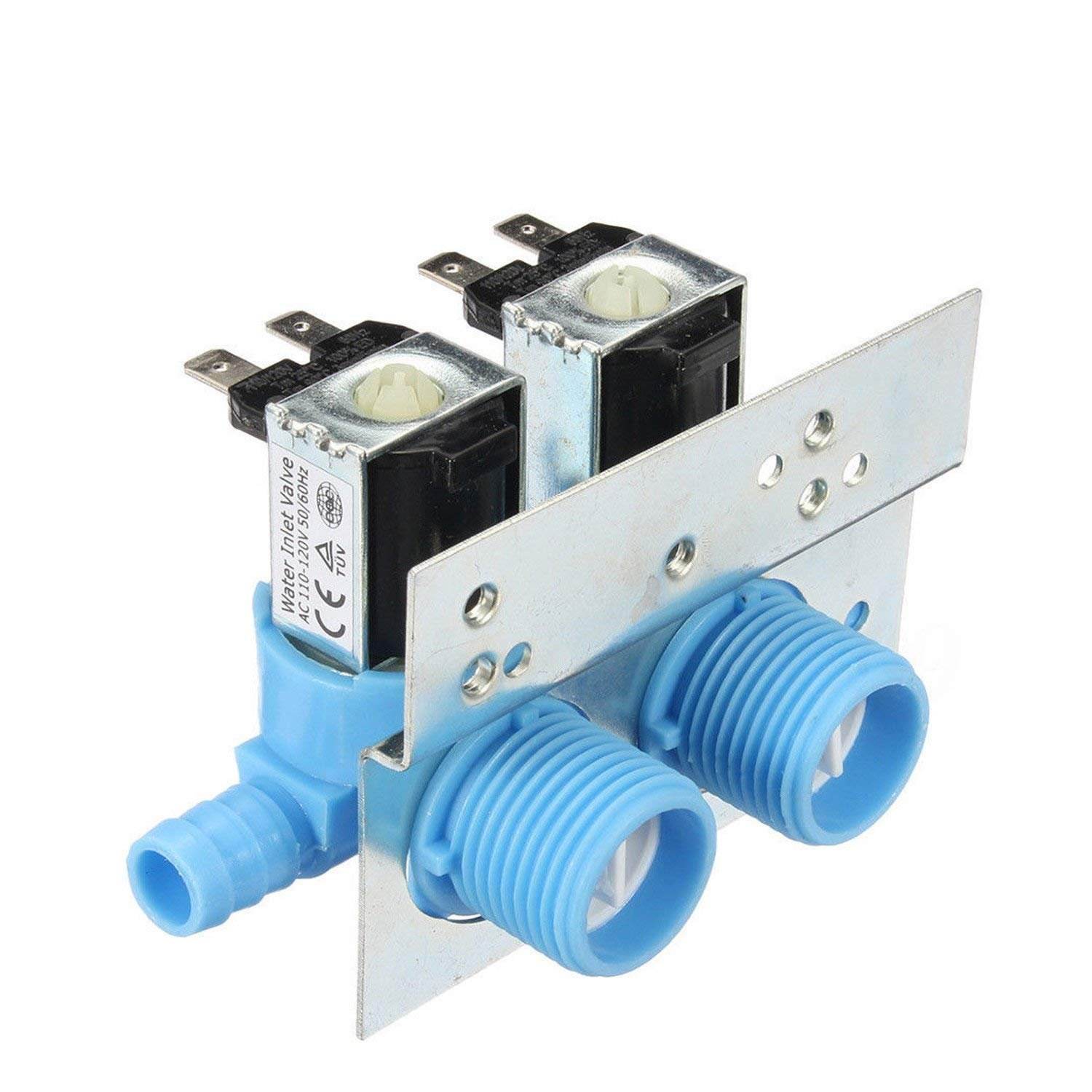1 Piece 285805 Water Inlet Valve for Clothes Washer AC 110-120 V, 50/60HZ,Works with Whirlpool, GE, Kenmore and More