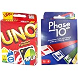 Mattel Phase 10 Card Game with UNO Card Game