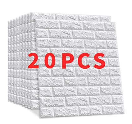 Win Y 3d Brick Wallpaper Diy Wall Stickers Adhesive Panel Decal Mural For Living Room Bedroom Kitchen Home Decor 60 X 60cm