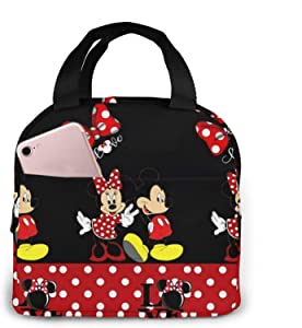 Suguroo Cute mickey mouse Portable Lunch Bag Insulated Cooler Tote Box for Travel/Picnic/Work/outdoor