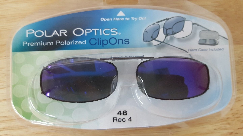 df9524a4ab0e0 Amazon.com  Polar Optics 48 rec 4 Polarized Full Frame clip on Sunglasses  W. Cases  Health   Personal Care