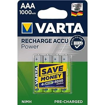 Varta Power Pila Recargable HR03 LR03 Micro AAA NiMH Blister ...