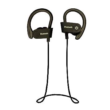 vitchelo Auriculares Auriculares Bluetooth inalámbrico, control llamadas, estéreo HD, micrófono, diseño half