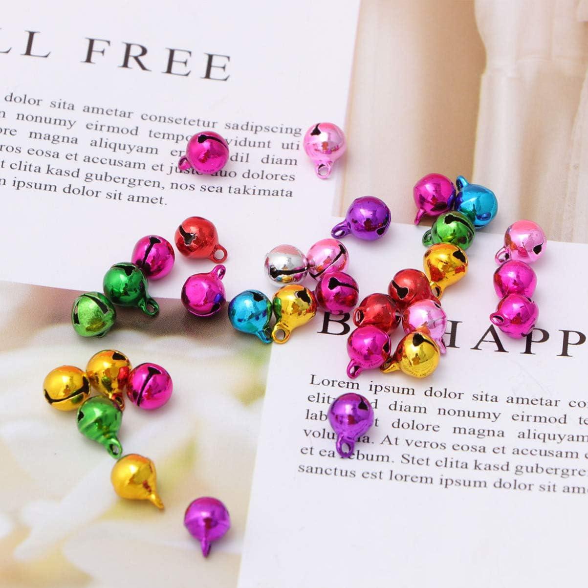 Vosarea 50 PZ Piccole Campanelle Natale Campanelle in Metallo Jingle Bells Accessori per Creazione di Gioielli Ornamento Natalizie
