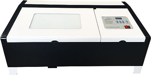 ZIVICO2レーザー加工機302040W110V卓上彫刻機非金属対応手動昇降USBポート黒白