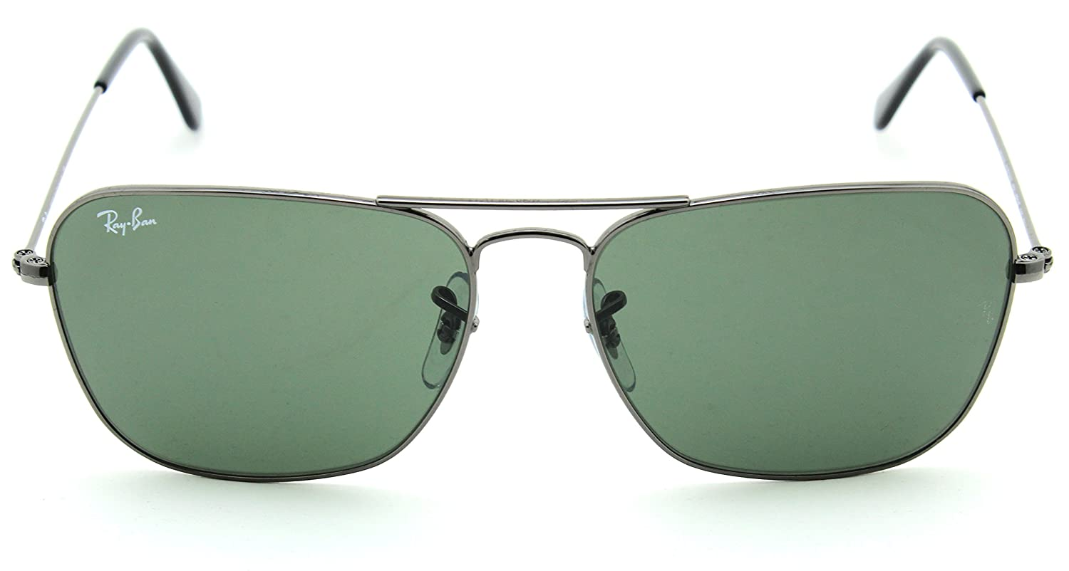 975e116963 Amazon.com  Ray-Ban RB3136 004 Caravan Gunmetal   Green G-15 Lens 58mm   Clothing