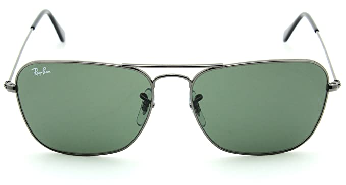 f95d9465ea Amazon.com  Ray-Ban RB3136 004 Caravan Gunmetal   Green G-15 Lens ...