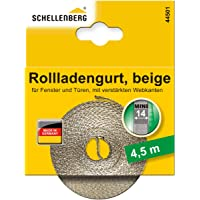 Schellenberg 44501 Rolsluiterband voor Venster (Breedte: 14 mm, Mini Systeem: 4,5 m), beige, 44501