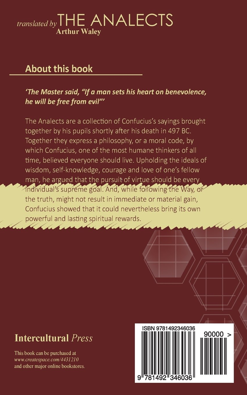 The Analects: Confucius (Kongzi), Students of Confucius, Arthur Waley:  9781492346036: Amazon.com: Books