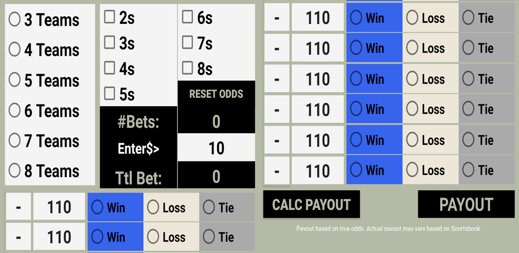 Betting odds calculator round robin pembobol binary options