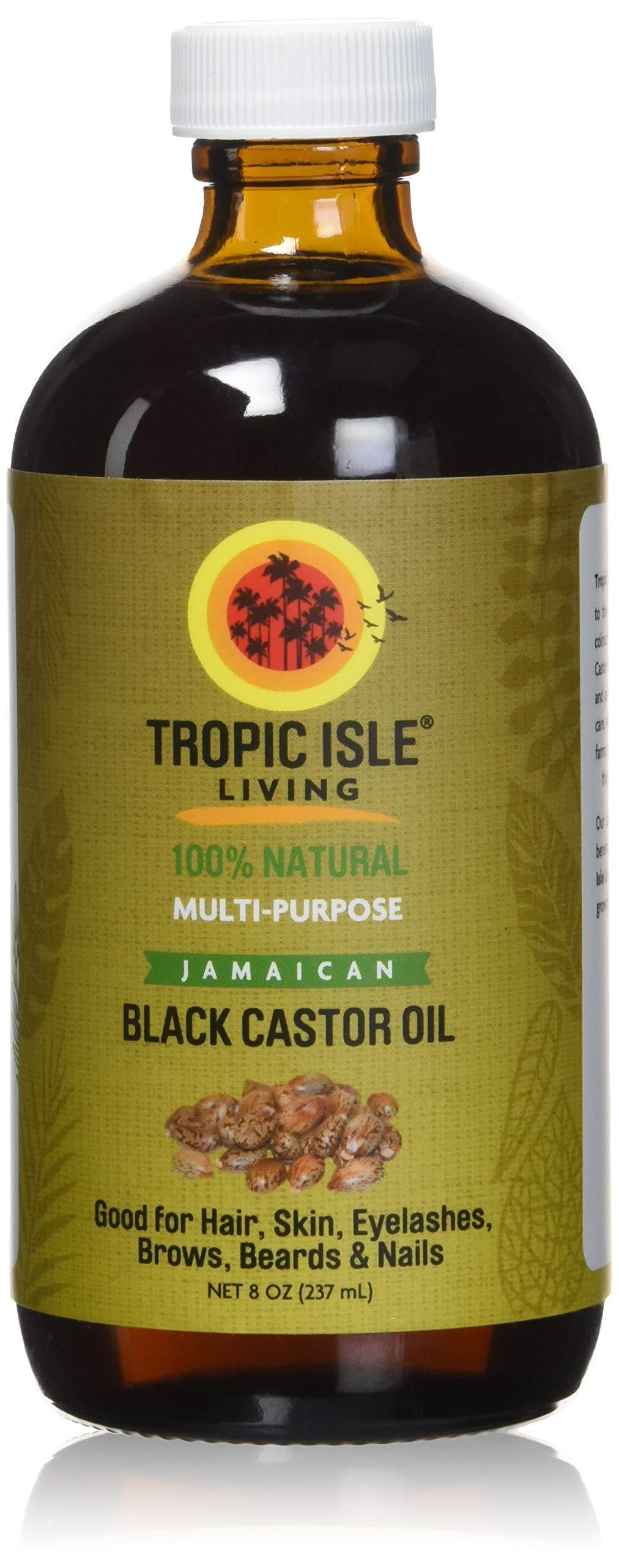 Tropic Isle Living Jamaican Black Castor Oil, 8 fl. oz.- Glass Bottle
