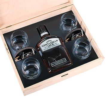 Privatglas 10-tlg Whiskey Set 4 Gläsern mit Gravur, 4 Untersetzer ...