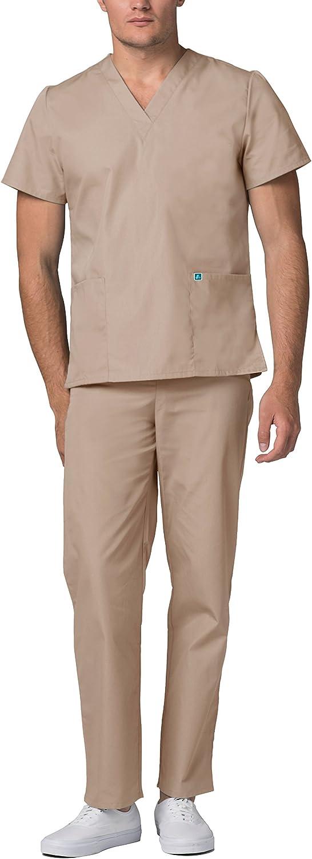 Adar Ensemble Uniformes Unisexe Blouse Uniforme M/édical avec Haut et Pantalon