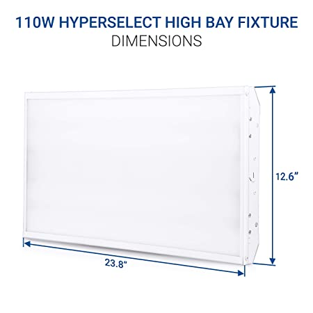 Hyperikon 2 Foot LED High Bay Lighting Fixture, 400 Watt 110W , Commercial Indoor Linear Lighting, 5000K, 2 Pack