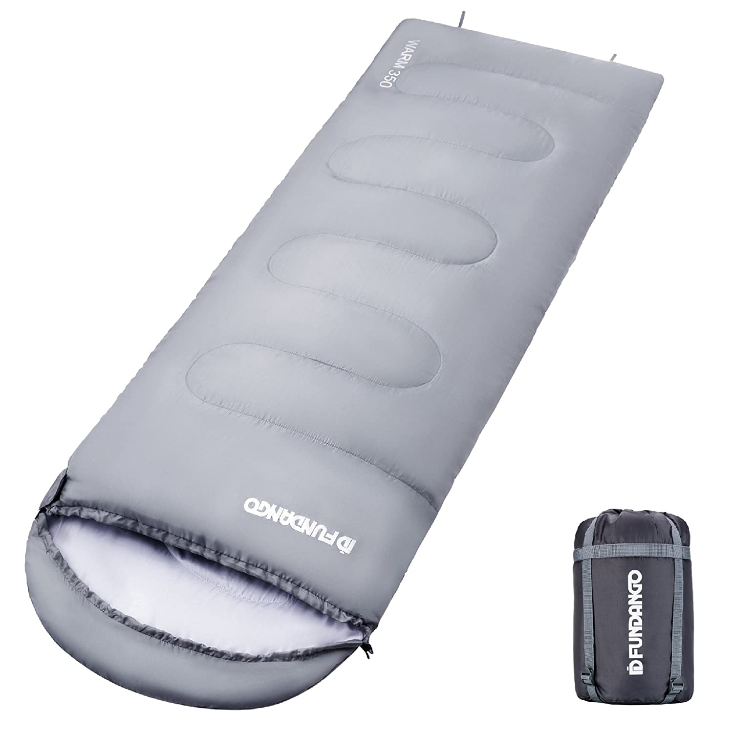 FUNDANGO Comfort 200 Oversize 74.8 33.1inches Portable Multipurpose, Durable, Warm Weather Sleeping Bag, Camping or Home