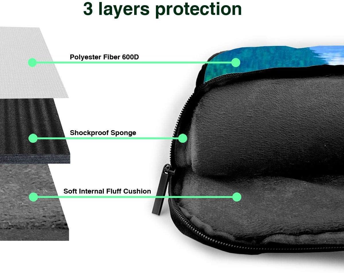Green Hills and Water Printed Laptop Shoulder Bag,Laptop case Handbag Business Messenger Bag Briefcase
