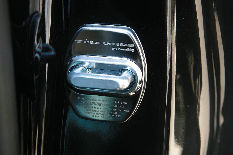 Kia Telluride Silver Chrome Color Stainless Door Striker Cover Molding 1Set-4ea for 2020