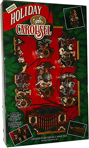 Mr. Christmas Musical Holiday Carousel String of Six Carousel Horses and Control Box by Mr. Christmas