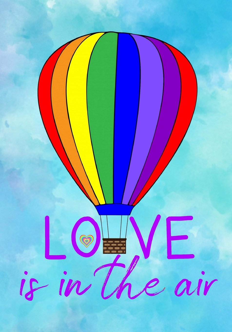 Love Is In The Air Lgbtq Journal Gay Pride Lined Notebook