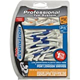Pride Professional Tee System Evolution Plastic Golf Tees (Pack of 50), 40 Count 3-1/4-Inch + 10 Count 1-1/2-Inch