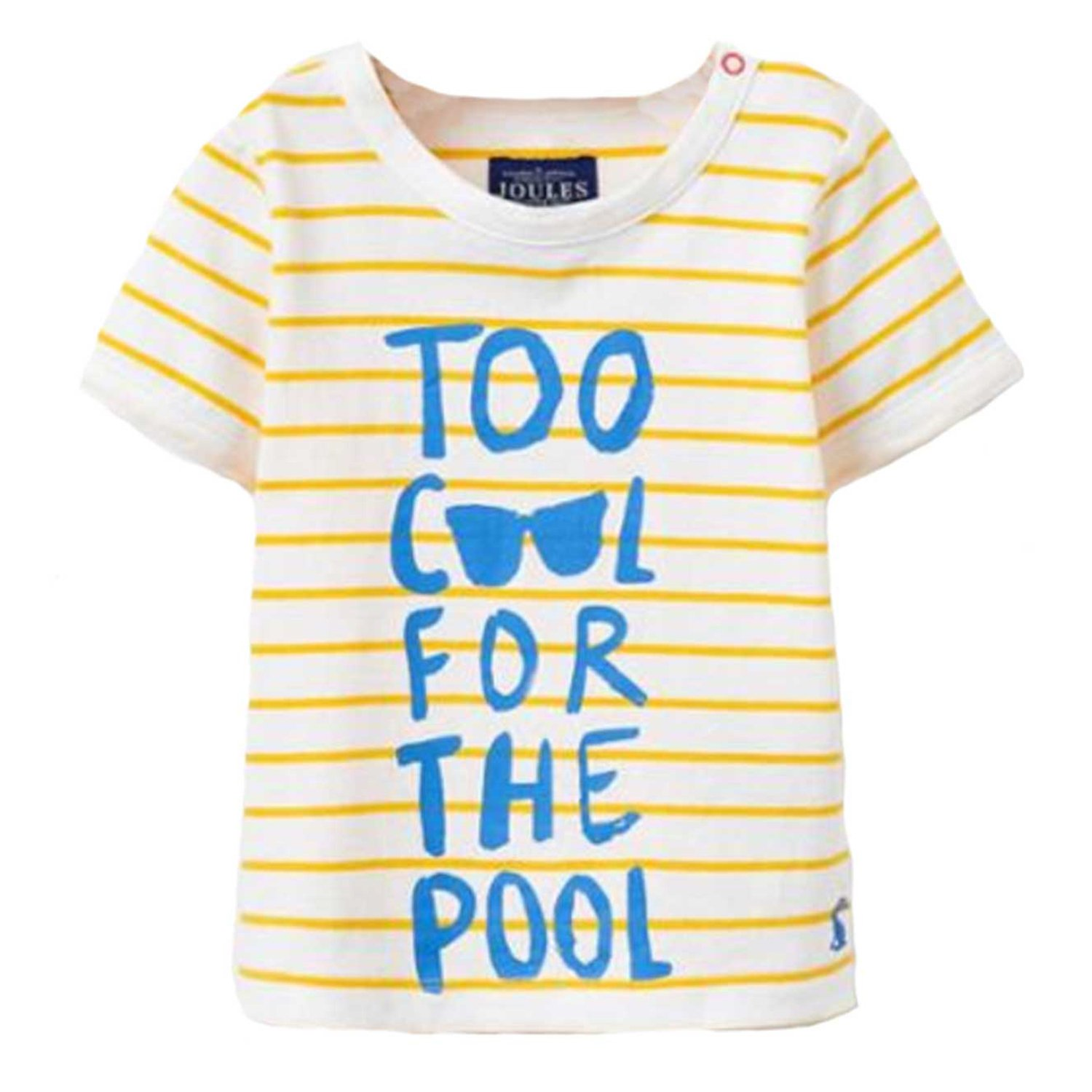Joules Baby Boys Finlay Striped T-Shirt. Colour Yellow