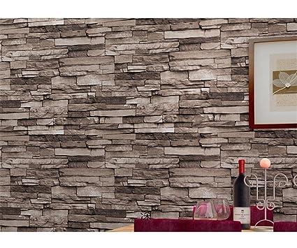 Modern 21 Inch By 394 Stone Texture Pvc Waterproof Brick Wallpaper Wall Decor Murals