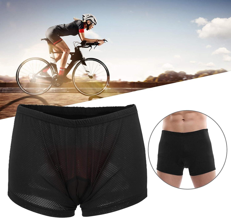 Pantalones cortos de ciclismo Coj/ín de esponja 3D Calzoncillos acolchados para bicicleta Pantalones cortos Transpirable Hombre Ropa interior de ciclismo Absorci/ón de humedad Secar r/ápidamente