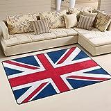 WOZO British Flag Union Jack Area Rug Rugs Non Slip Floor Mat Doormats For  Living