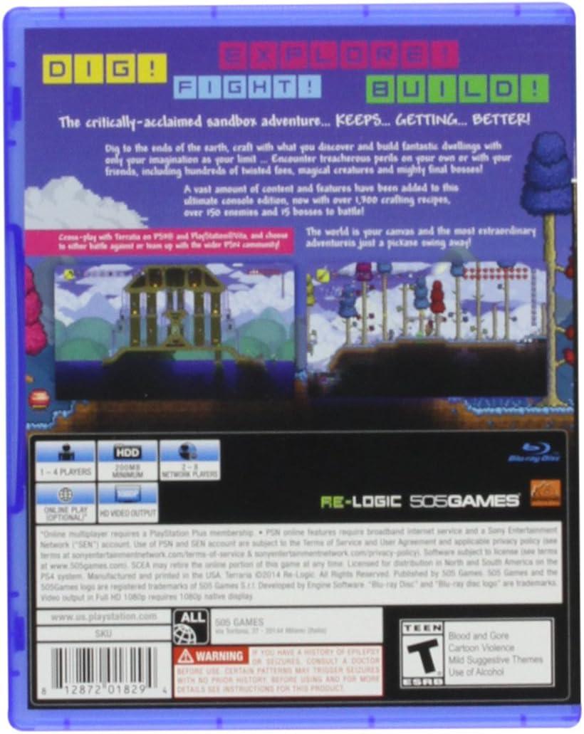 Amazon com: Terraria - Wii U: 505 Games: Video Games