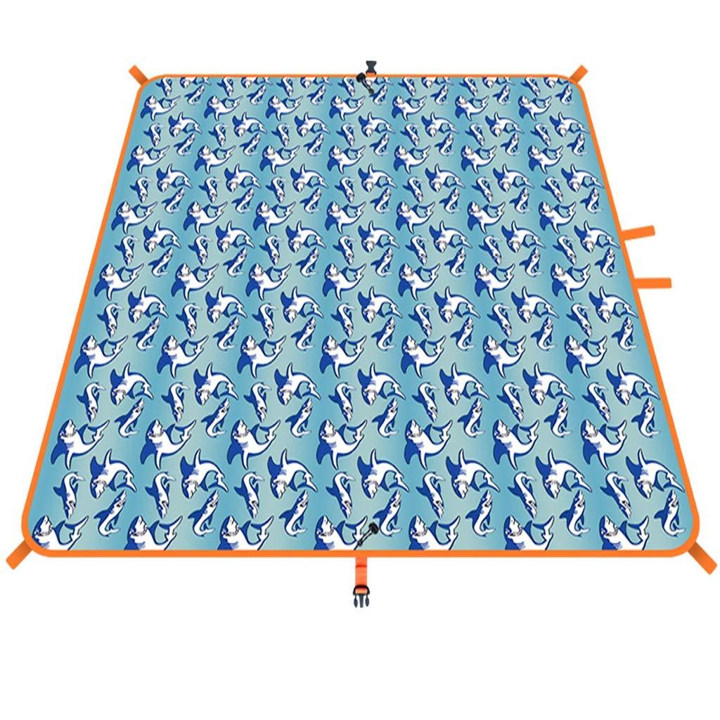 NLXTXQC Outdoor Picnic Blanket Waterproof Padded Portable Folding Lawn Beach Mat Waterproof Nylon Picnic Cloth Bottom by NLXTXQC