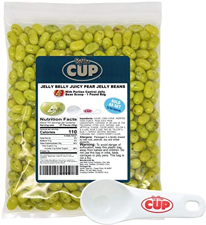 Jelly Belly Jelly Beans Bulk Juicy Pear - Bolsa de 1 libra ...