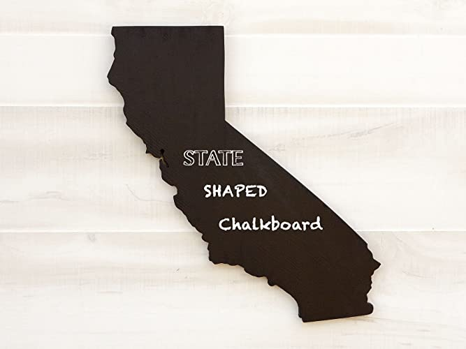 Amazoncom California State Map Chalkboard Message Board - Us map chalkboard