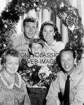 OnlyClassics Andy Griffith Show Television Corona de Navidad 8X10 Foto Don Knotts Ron Howard