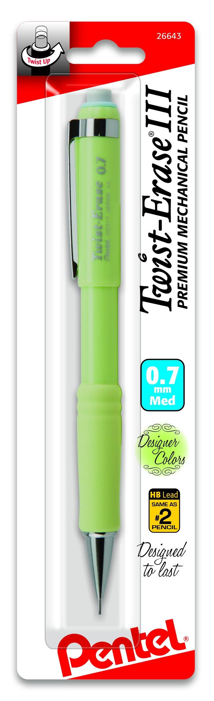 Portaminas 0.7mm Pentel Twist Erase III 1 Pk Fashion Colors