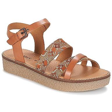 7f6688632eb6e4 Kickers Vecteur, Sandale Femme, Camel, 41: Amazon.fr: Chaussures et Sacs