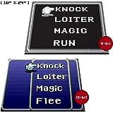 """Retro RPG Menu Doormat Welcome Floormat (18""""x24"""", 16-bit blue)"""
