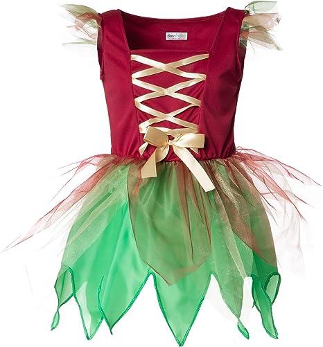 dressforfun 900346 - Disfraz de Chica Elfo del Bosque, Vestido en ...