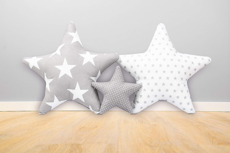 Ami Lian/® Lot de 3/x Coussin /étoile ast/érisque Coussin D/éco kuschlig duveteuse env 60/cm//28/cm SET12