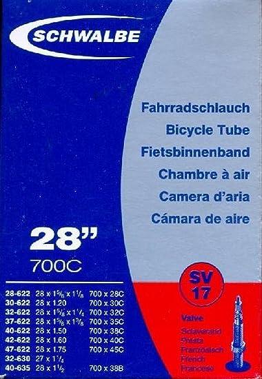 700 x 37 C STU738P SPORT DIRECT Cycle Presta Valve Tube Intérieur