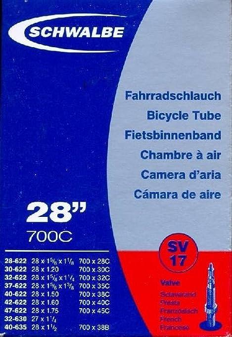 Schwalbe - Cámara de aire para bicicleta (SV17, 28