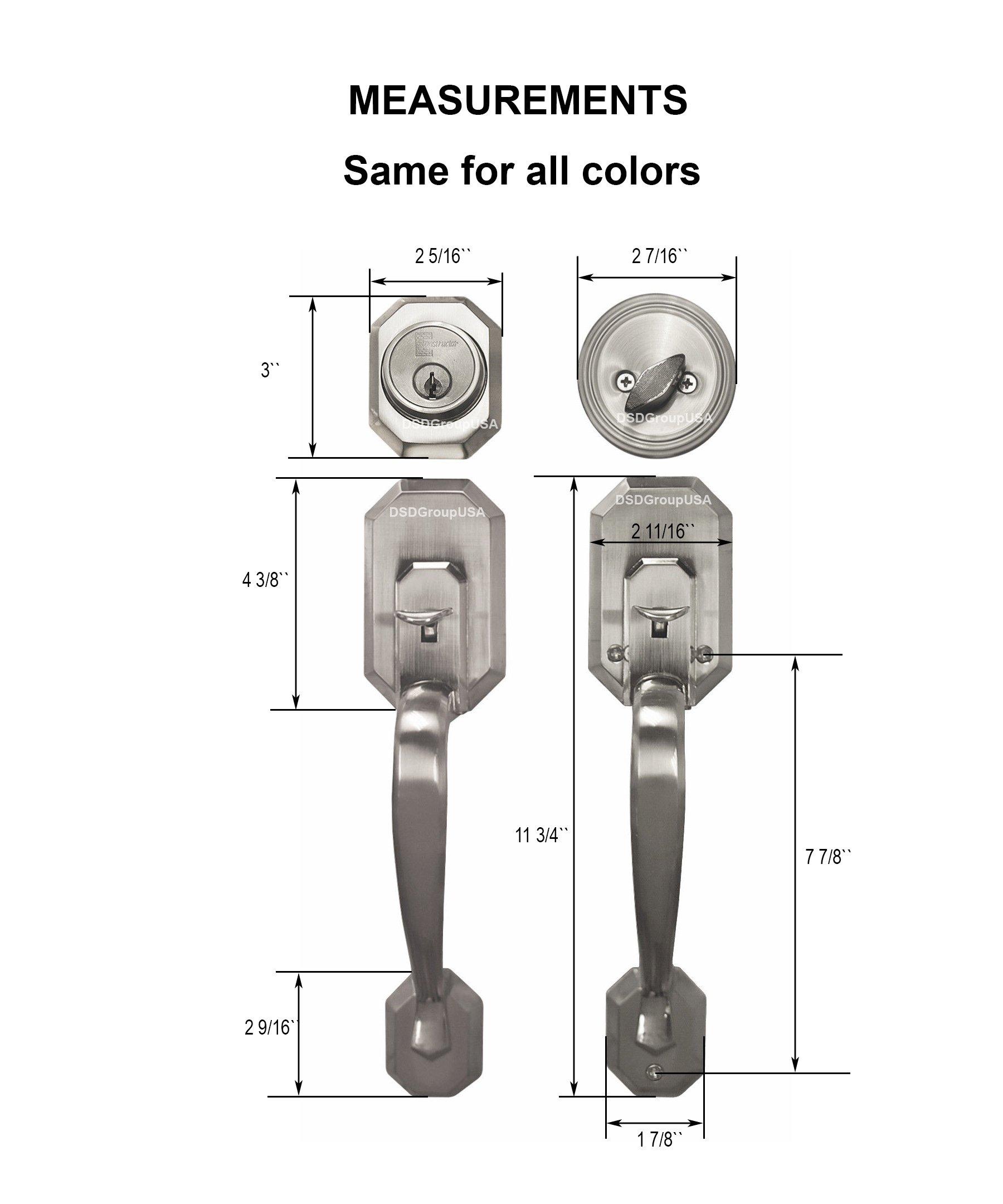 ''Constructor'' Cerberus Entry Hand Antique Bronze Finish Door Lock Lever Handle Set SKU: CON-CER03