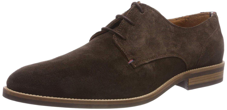 TALLA 48 EU. Tommy Hilfiger Essential Suede Lace Up Derby, Zapatos de Cordones Hombre