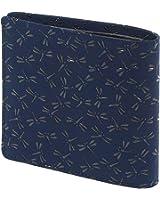 INDEN-YA 印傳屋 印伝 財布 二つ折り財布 メンズ 男性用 紺×黒 とんぼ 2003-04-008