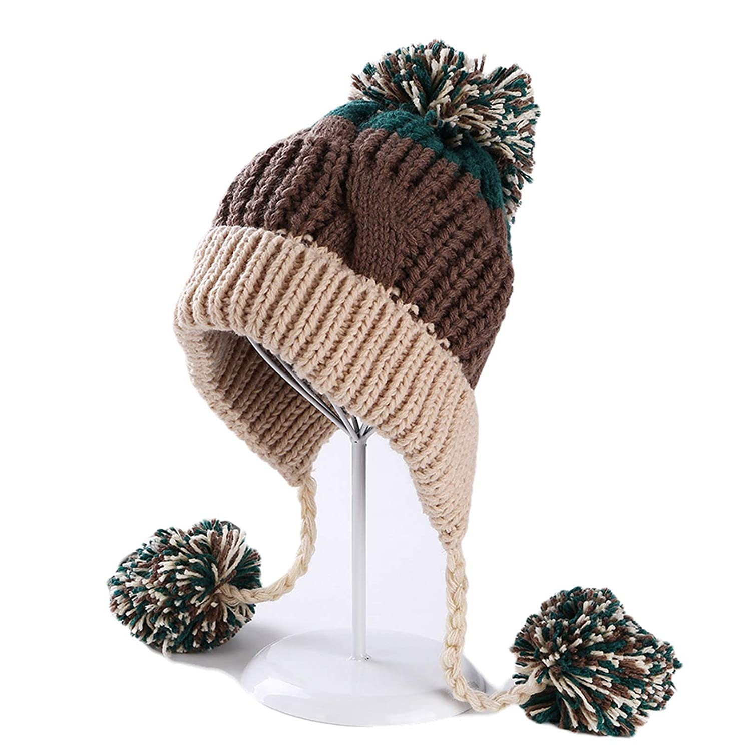 Vic Gray Women Girls Trendy Cute Beanies Soft Fur Pom Pom Knitted Warm  Female Winter Skullies Hats at Amazon Women s Clothing store  1ebd0ee57c5