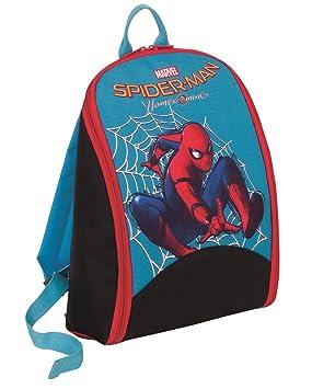 Juego Mochila - Marvel Spiderman Homecoming - 2in1 Cartera Escolar y Diana darboard - Negro Azul 9Lt: Amazon.es: Equipaje